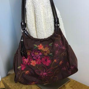 Brighton Handbag Floral Embroidered Bag